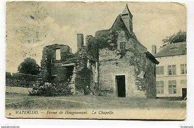 CPA - Carte postale -  Belgique-Waterloo-Ferme de Hougoumont - La Chapelle 1906