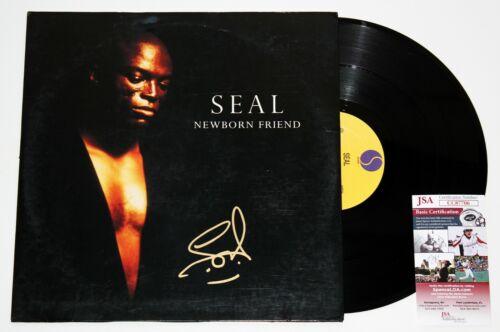 SEAL SIGNED NEWBORN FRIEND EP VINYL RECORD ALBUM HUMAN BEING LP UK AUTO +JSA COA