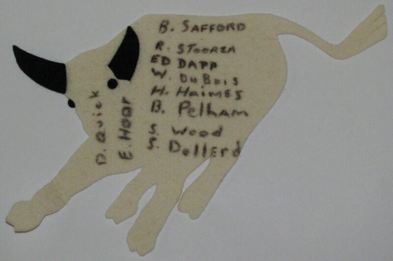 Philmont Scout Ranch TP2 Trading Post SIGNED Ladies White Felt Bull JP  BSA
