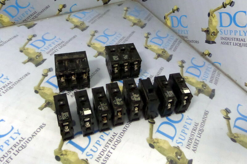 GOULD ITE Q120 & QP HACR CIRCUIT BREAKERS LOT OF 10