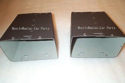 1936 36 Chrysler AIRSTREAM GLOVE BOX LINERS  2 Boxes Left & Right  FELT LINED