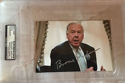 T  Boone Pickens Signed Autographed Photo Billionaire Oil Businessman Psa Dna