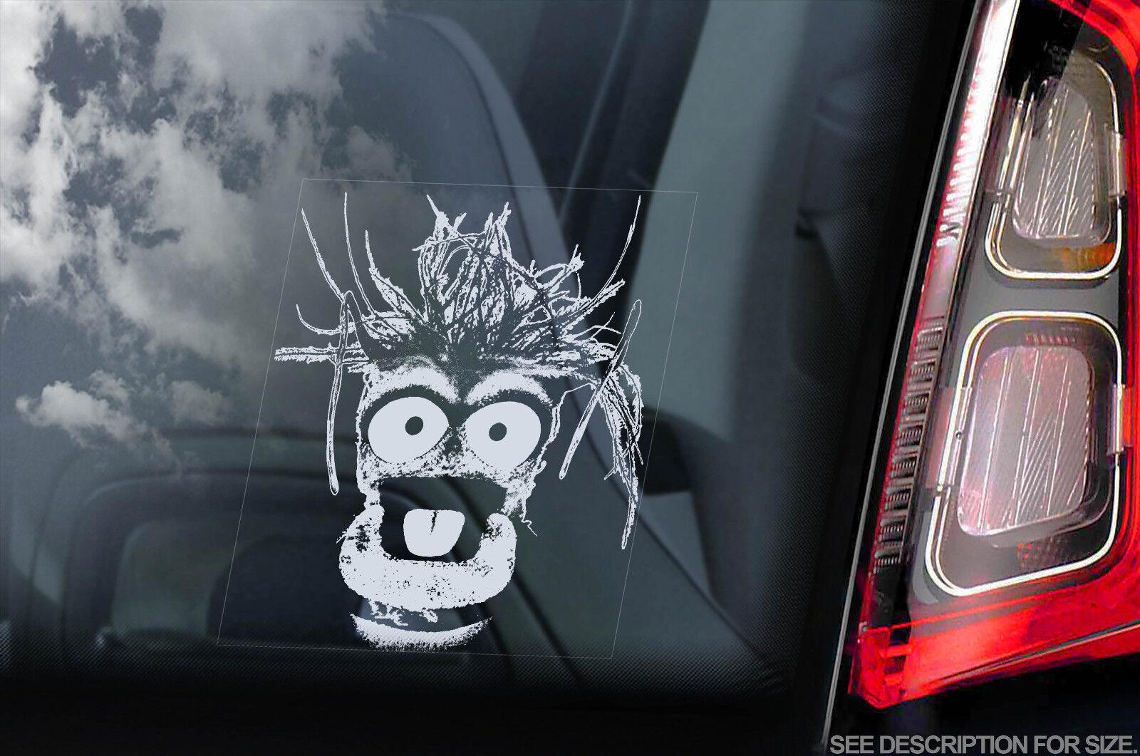 V01 Car Window Sticker Gonzo Muppet Show Peeper Sesame Street Sign Decal