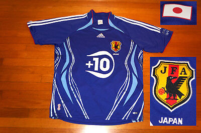 Adidas Japan National Team JFA Soccer Jersey 10  2006-07 World Cup EC M mens image