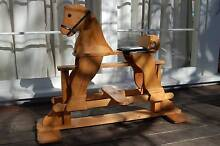 Kids classic wooden rocking horse Oatley Hurstville Area Preview