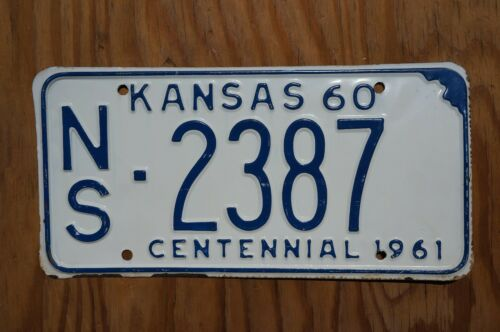 1960 NESS COUNTY Kansas License Plate