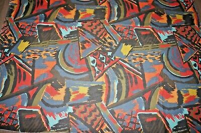 Artisan 70s 80s abstract rich colours cotton large fabric length