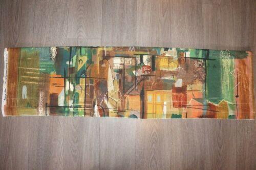 "John Piper original green ""Stones of Bath"" cotton fabric panel length fabric"
