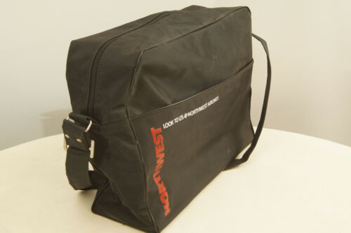 Northwest Airlines Black Bearse Manufacturing Company Travel Bag