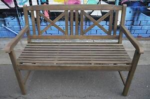 New Classic Brown Gardenia Timber Outdoor Bench Seat Furniture Melbourne CBD Melbourne City Preview