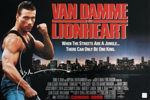 Jean Claude Van Damme Autographed LIONHEART 16x24 Movie Poster ASI Proof