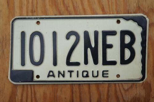 Vintage 1969 Nebraska ANTIQUE VEHICLE License Plate Historical NEB