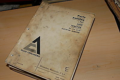 Allis Chalmers 260e Tractor Elevator Scraper Parts Manual Book Catalog Spare