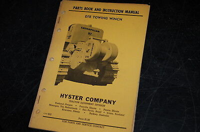 Hyster D7e Tractor Towing Winch Owner Parts Instruction Manual Book Catalog Cat