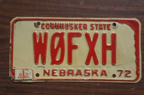 1972 1973 1974 1975 Nebraska License Plate