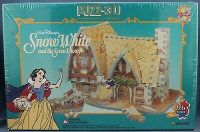 Wrebbit Puzz 3D Snow White and the Seven Dwarfs New Sealed Box (96 pieces)