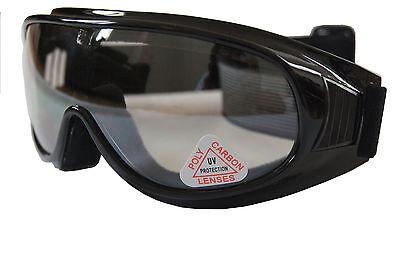 100% UV Andevan™ Motor,Ski Goggle cover over Rx glasses Poly carbon (Polycarbonate Glasses Lenses)