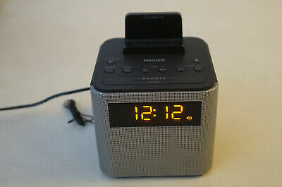 Philips FM Dual Alarm Clock Radio Bluetooth speaker Type AJT3300/37