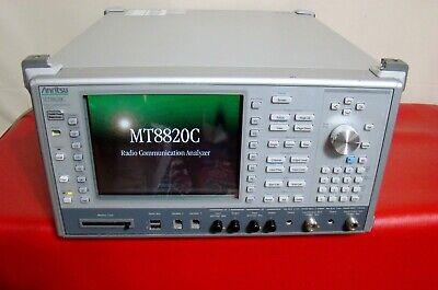 Anritsu Mt8820c Radio Communication Analyzer 30mhz To 2.7ghz Power V23.08