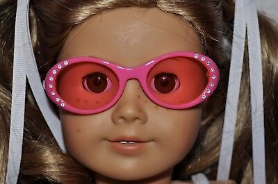 GLASSES FITS  AMERICAN  GIRL DOLLS  LOT- PINK GLAMOUR GLASSES
