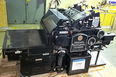 Heidelberg Ksb 15 X 22 Die Cutter Cylinder Press - Stock 3586