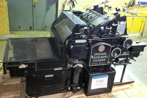 """Heidelberg KSB 15 ¾"""" x 22 ½"""" Die Cutter Cylinder Press - Stock# 3586"""