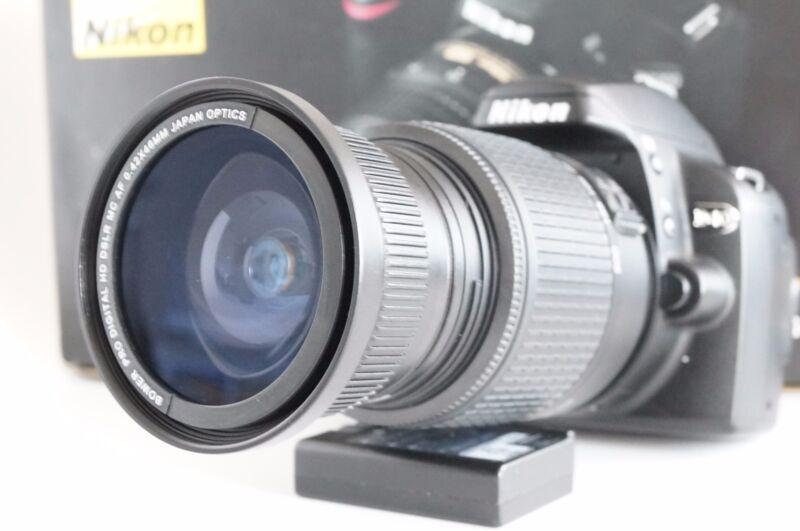 Wide Angle Macro Fisheye lens for Nikon D3300 D3200 D3100 D3000 & 18-55 VR AFS D