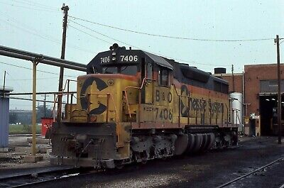 Chessie System/ B&O SD35 # 7406 @ Chicago, IL 8/23/1979