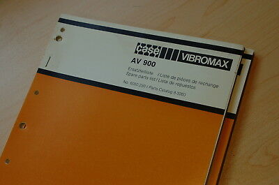 Case Vibromax Av900 Plate Compactor Parts Manual Book Catalog Spare List 1986