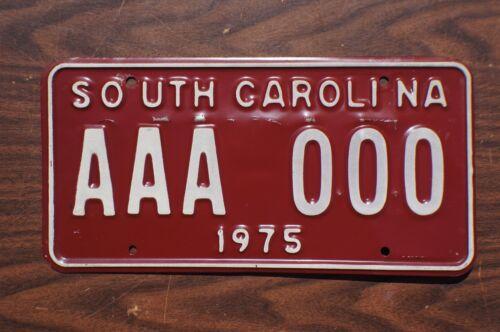 1975 South Carolina SAMPLE License Plate # AAA 000