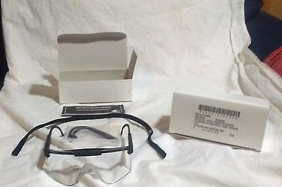 LOT OF 2 ARMY MILITARY CLEAR BALLISTIC PROTECTIVE SAFETY SHOOTING GLASSES SPECS