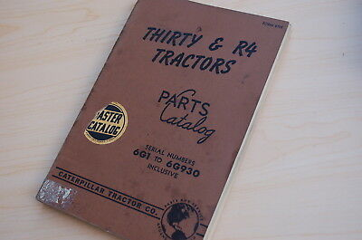 Caterpillar Thirty R4 Tractor Crawler Dozer Parts Manual Book Catalog Vintage 30