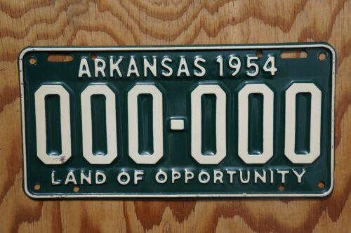 1954 Arkansas SAMPLE License Plate - High Quality