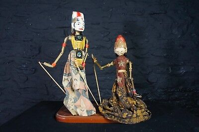 Vintage Indonesian Wayang Golek Puppets ~ Decorative Southeast Asian Design