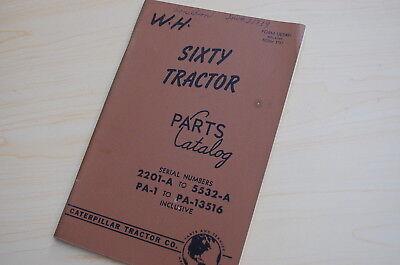 Caterpillar Sixty Tractor Crawler Dozer Parts Manual Book Catalog Vintage 60 Pa1