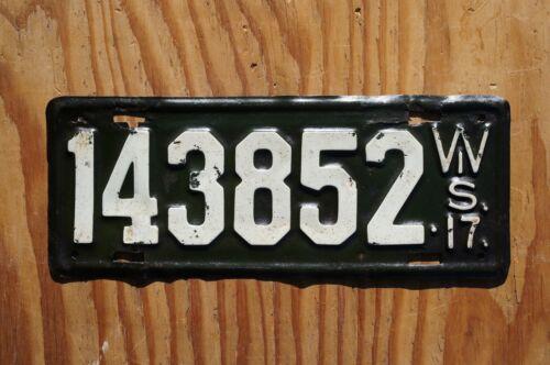 1917 Wisconsin Passenger License Plate