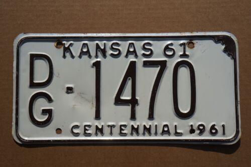 1961 Kansas Centennial License Plate
