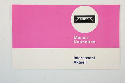 Katalog Grundig Teleboy universal 1960 70er Jahre Messeneuheit Prospekte B5072