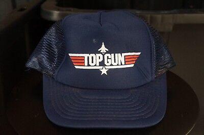 Rare Vintage DESIGNER AWARD Top Gun Trucker Mesh Snapback Hat Cap 90s Tom Cruise