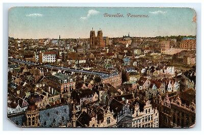 Postcard Bruxelles Panorama, Belgium dated 01/29/1919 D21