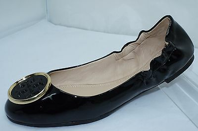 New Tory Burch Black Shoes Twiggie Ballet Flats Size 8.5 Leather (Tory Burch Flat Sale)