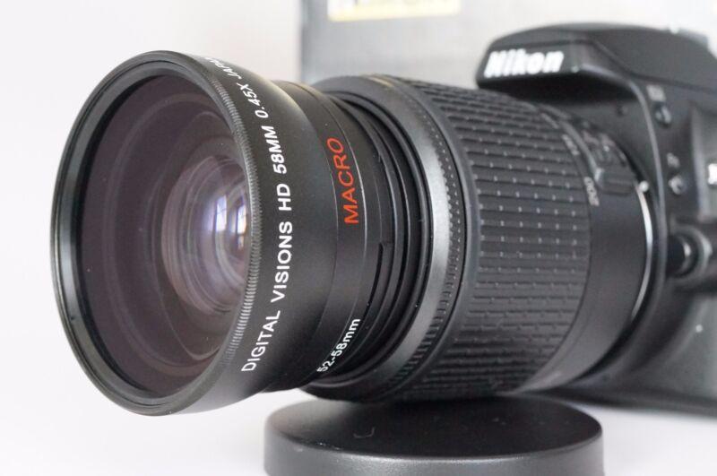 Macro Wide Angle Semi Fisheye Lens for Nikon Digital D Series d7000 d7100 52mm