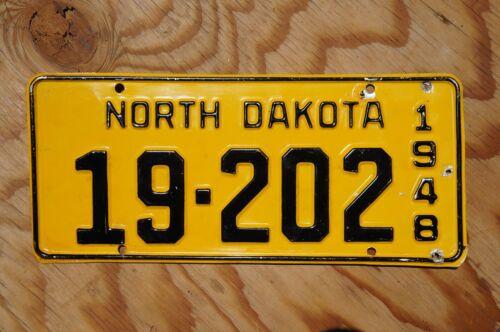 1948 North Dakota License Plate - Nice Original