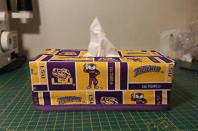 (NCAA LSU Tigers Louisiana State University Tissue Box Cover (Rectangle) Handmade)