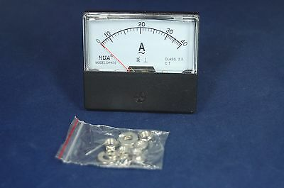 1pc Ac 0-40a Analog Ammeter Panel Amp Current Meter 6070 Directly Connect