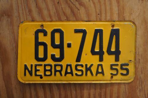 1955 DAWES County Nebraska License Plate # 69 - 744