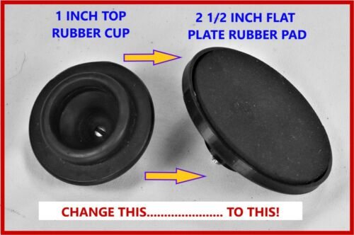 Vortex mixer 2.5 inch flat plate modification to replace screw on top rubber cup