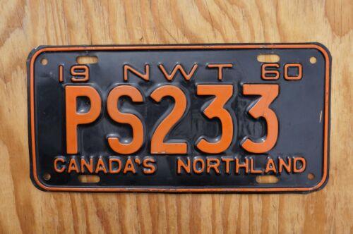 1960 NWT Northwest Territories License Plate - Nice Original