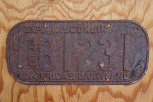 1948 Wisconsin Passenger License Plate
