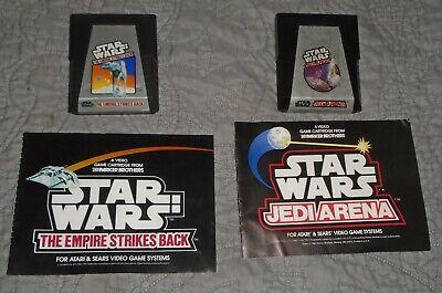 Atari Star Wars Empire Strikes Back + Jedi Arena 2600 manuals